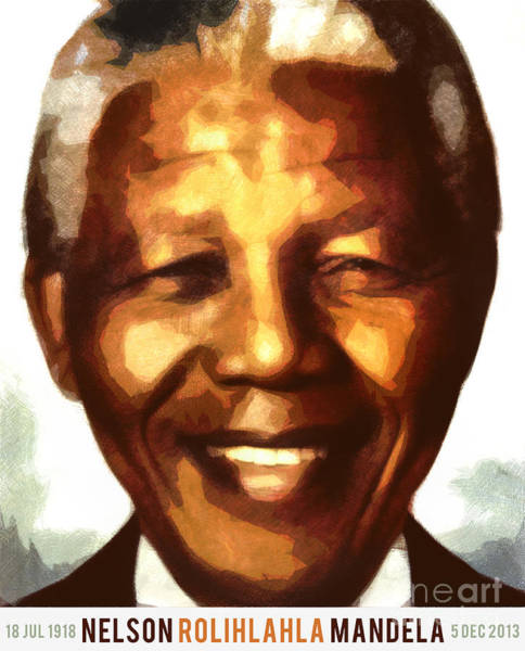 Famous People Digital Art - Nelson Mandela by Nishanth Gopinathan