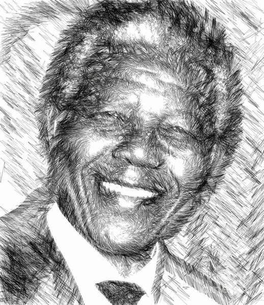 Digital Art - Nelson Mandela by Rafael Salazar