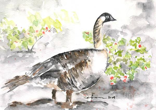Painting - Nene #2 - Hawaiian Goose by Claudia Hafner