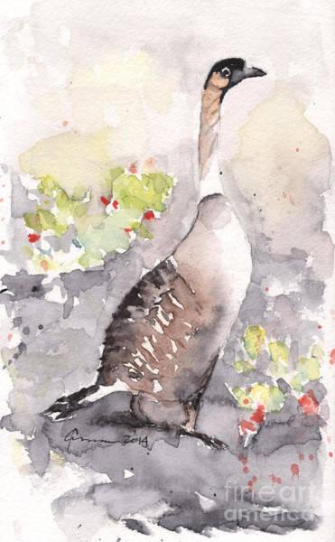 Painting - Nene -hawaiian Goose by Claudia Hafner