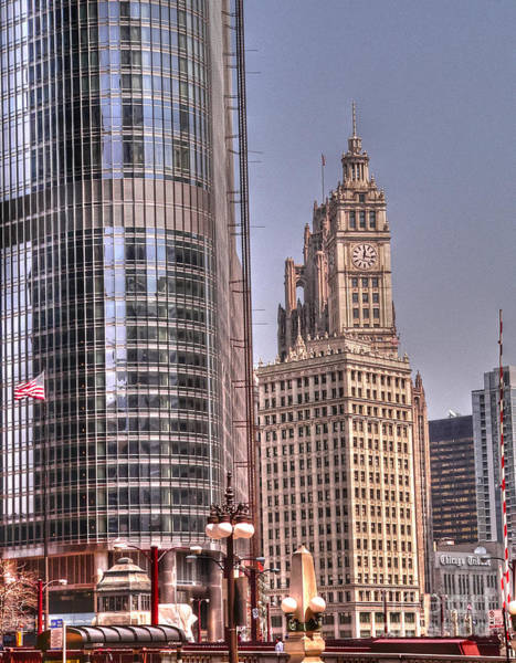 Wabash Avenue Wall Art - Photograph - Neo-gothic Meets Post-modern by David Bearden