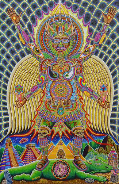 Mushroom Painting - Neo Human Evolution by Chris Dyer