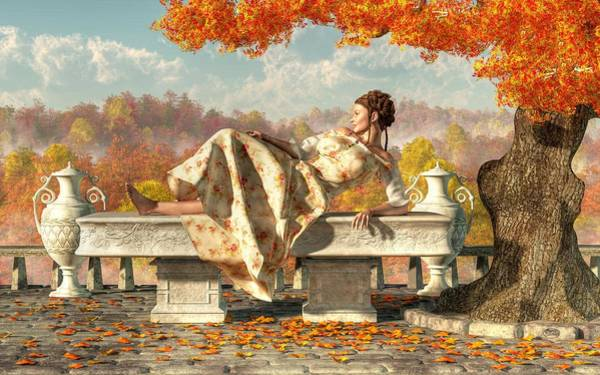 Digital Art - Neoclassical Fall by Daniel Eskridge
