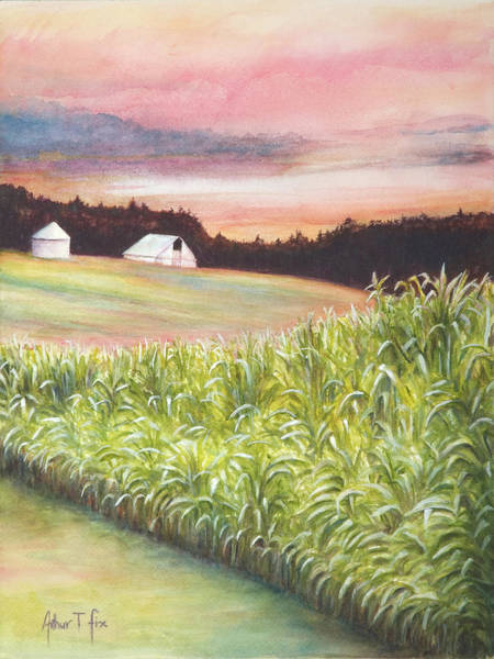 Painting - Neola Corn 2 by Arthur Fix