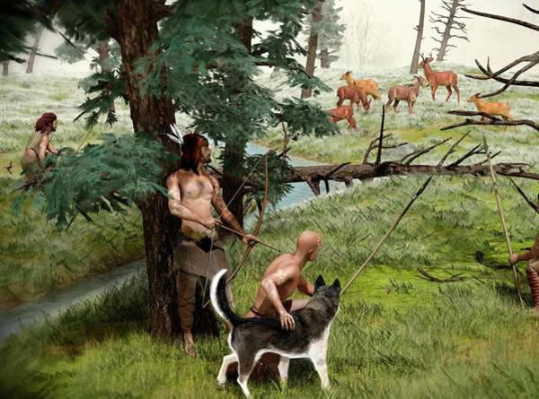 Wall Art - Photograph - Neolithic Hunting by Jose Antonio Penas/science Photo Library
