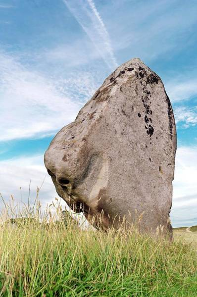 Wall Art - Photograph - Neolithic Standing Stone by Daniel Sambraus/science Photo Library