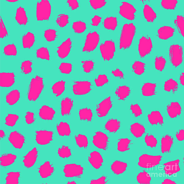 Wall Art - Digital Art - Neon Brush Seamless Pattern Background by Faitotoro