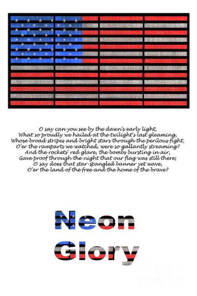 Star-spangled Banner Wall Art - Photograph - Neon Glory by John Farnan