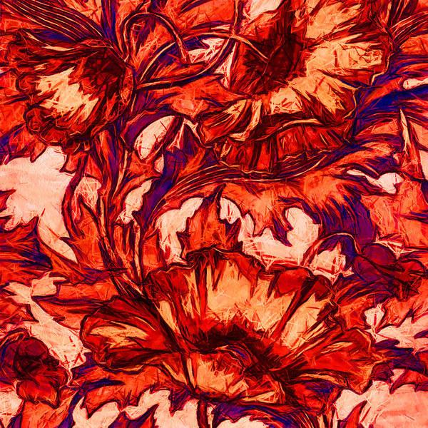Digital Art - Neon Poppies by Charmaine Zoe