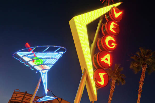 Photograph - Neon Signs In Fremont Street, Downtown by Siegfried Layda
