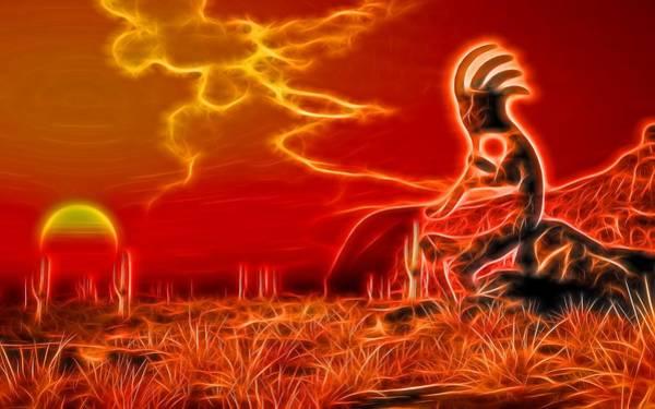 Digital Art - Neon Southwest by Daniel Eskridge