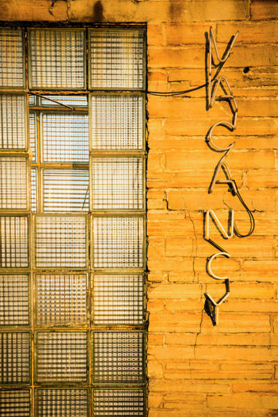 Yellow Brick Road Wall Art - Photograph - Neon Vacancy Sign, Pacific, Missouri by Julien Mcroberts