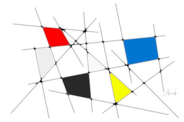 Digital Art - neoplasticism 09 I by John WR Emmett