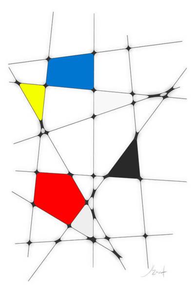 Digital Art - neoplasticism 10 I by John WR Emmett
