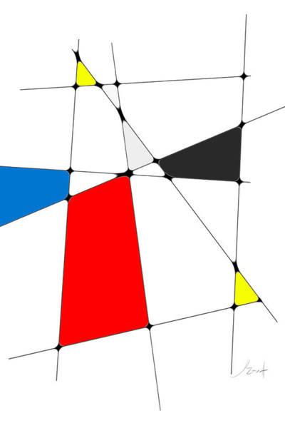 Digital Art - neoplasticism 10 III by John WR Emmett