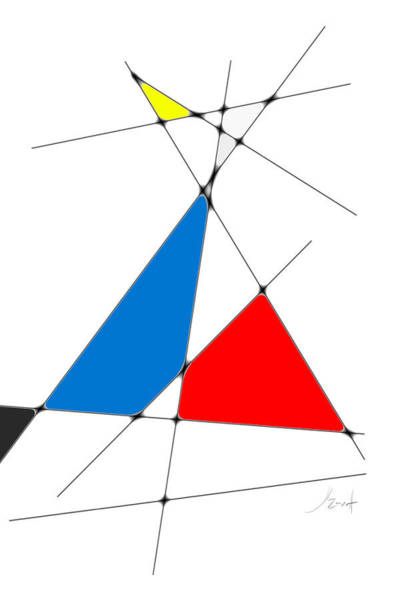 Digital Art - neoplasticism 10 IV by John WR Emmett
