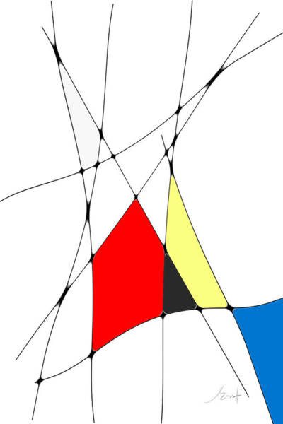 Digital Art - neoplasticism 10 V by John WR Emmett