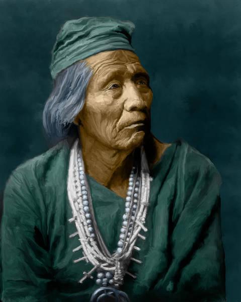 Digital Art - Nesjaja Hatali - Navaho by Rick Mosher