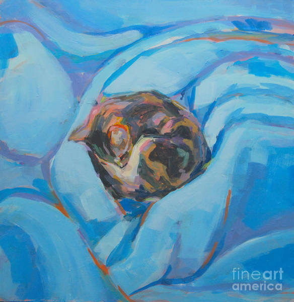 Tuxedo Cat Painting - Nest by Kimberly Santini