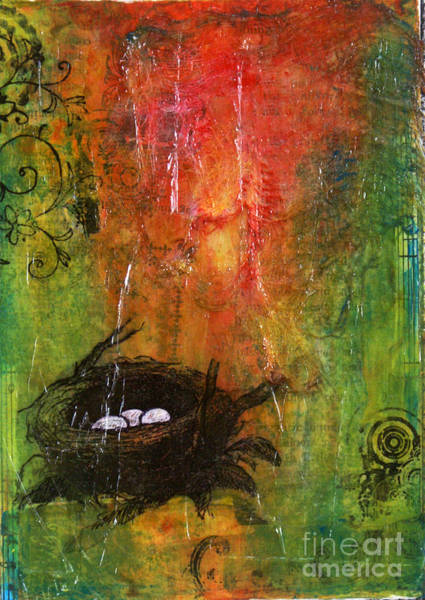 Chester Mixed Media - Nesting by Ishita Bandyo