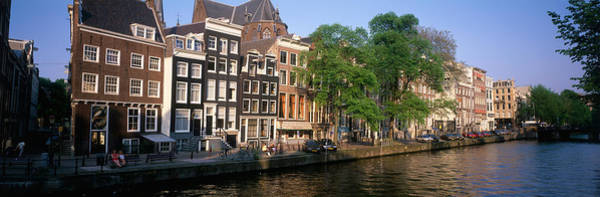 Noord Holland Wall Art - Photograph - Netherlands, Amsterdam, Canal by Panoramic Images