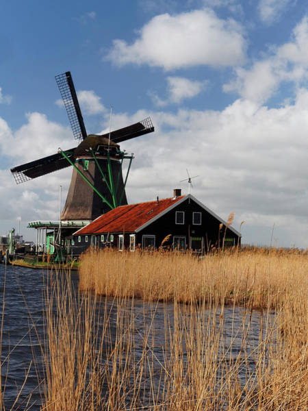 Noord Holland Wall Art - Photograph - Netherlands, Zaandam, Historic Windmill by Terry Eggers