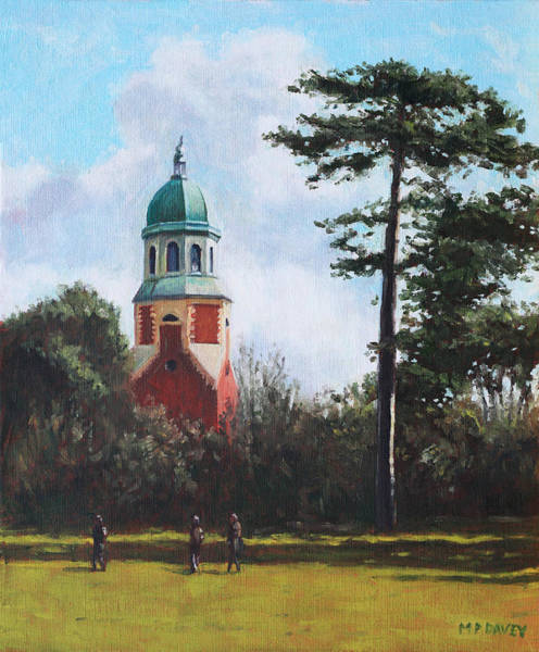 Wall Art - Painting - Netley Hospital Chapel At Weston Shore by Martin Davey