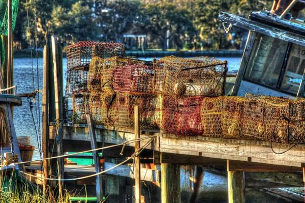 Digital Art - Nets On The Dock by Michael Thomas