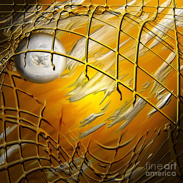 Netting Painting - Netted 4 by Kathryn L Novak