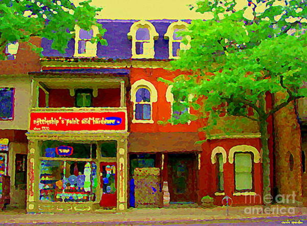 Painting - Nettleships Paint And Hardware Store Cabbagetown Paintings Of Toronto City Scenes Carole Spandau Art by Carole Spandau