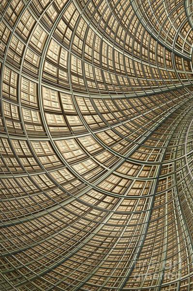 Wall Art - Digital Art - Network Gold by John Edwards