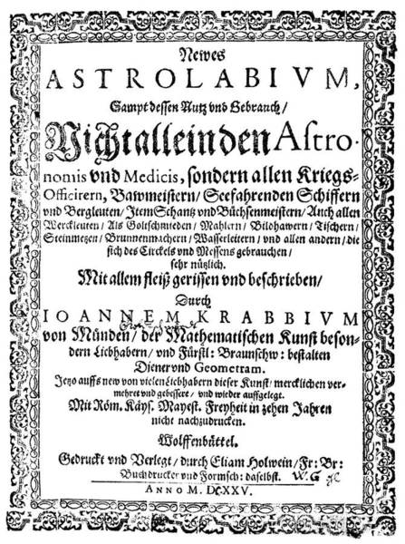 Front Page Photograph - Neue Astrolabium by Royal Astronomical Society/science Photo Library