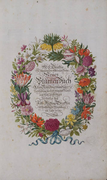 Wall Art - Photograph - Neues Blumenbuch Title Page by Natural History Museum, London/science Photo Library