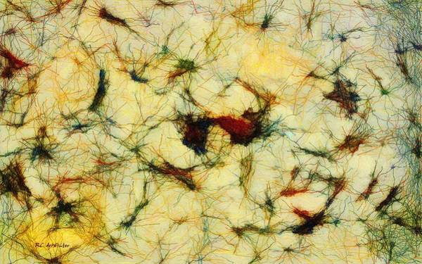 Painting - Neuron Jungle by RC DeWinter
