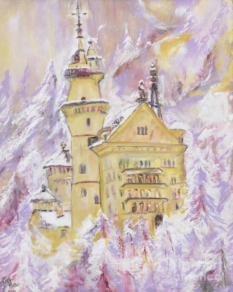 Wall Art - Painting - Neuschwanstein Castle  by Helena Bebirian