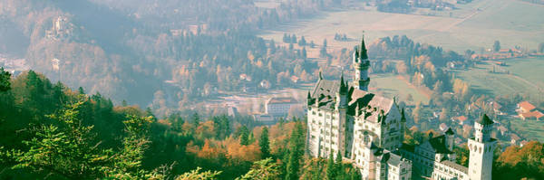 Abode Photograph - Neuschwanstein Castle Schwangau Bavaria by Panoramic Images