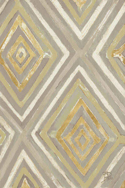 Neutral Painting - Neutral Ikats by Patricia Pinto