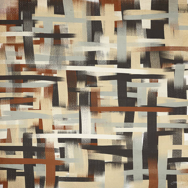 Charcoal Painting - Neutral Patterns by Lourry Legarde