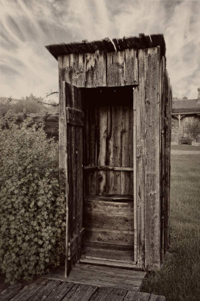 Wall Art - Photograph - Nevada City Ghost Town Outhouse - Montana by Daniel Hagerman