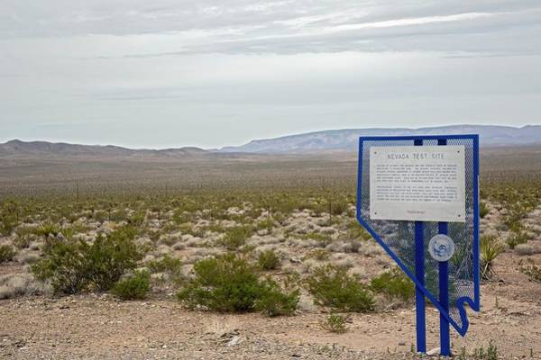 Historical Marker Photograph - Nevada Test Site Warning Sign by Jim West