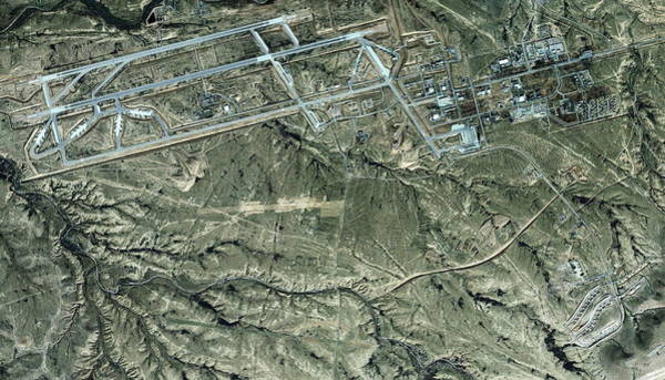 Military Air Base Photograph - Nevatim Air Base by Geoeye/science Photo Library