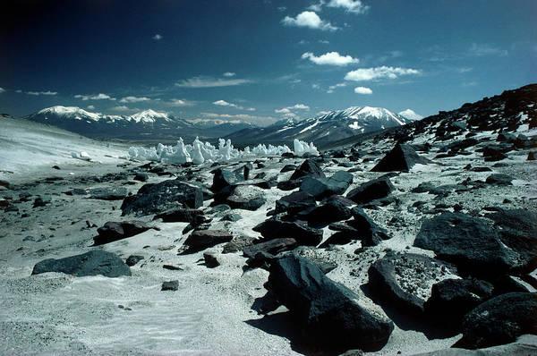 Wall Art - Photograph - Neve Penitentes In Puna De Atacama by Simon Fraser/science Photo Library.