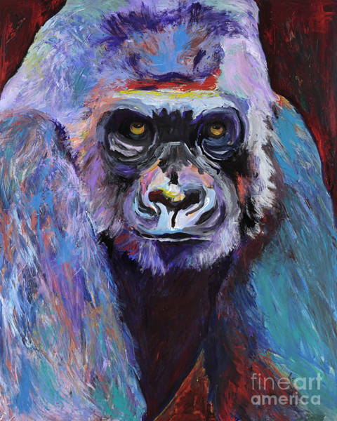 Painting - Never Date A Gorilla With A Nice Smile by Pat Saunders-White
