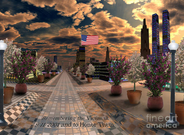 Wall Art - Digital Art - Never Forget 9-11-2001 Digital Art Digital Painting by Heinz G Mielke