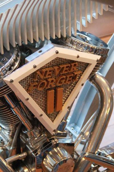 Photograph - Never Forget Motorcycle by Dan Sproul