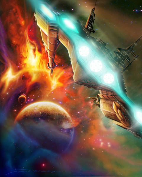 Wall Art - Painting - Nevtar Stardrive by James Christopher Hill