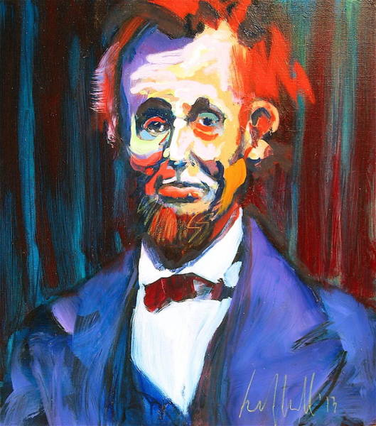 Painting - New Abe by Les Leffingwell