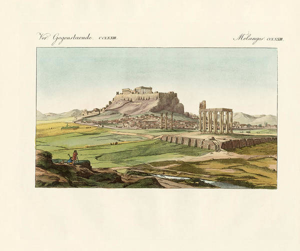 Ashes Drawing - New Athens On The Ashes Of The Old One by Splendid Art Prints
