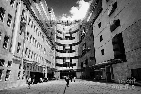 Broadcaster Wall Art - Photograph - New Bbc Broadcasting House London England Uk by Joe Fox