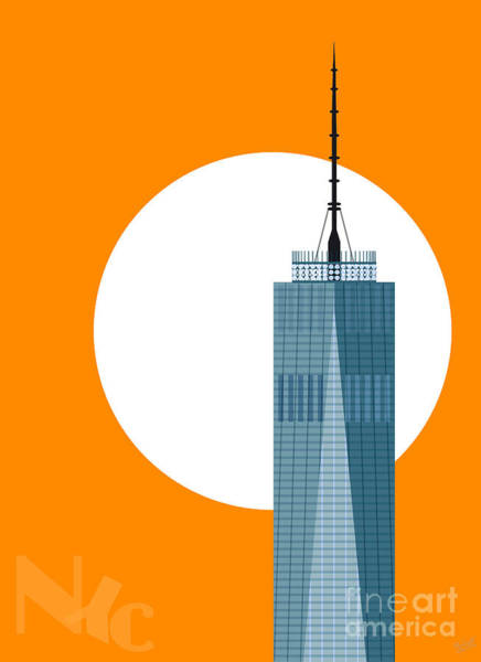 Famous Places Digital Art - New Beginnings Freedom Tower by Nishanth Gopinathan